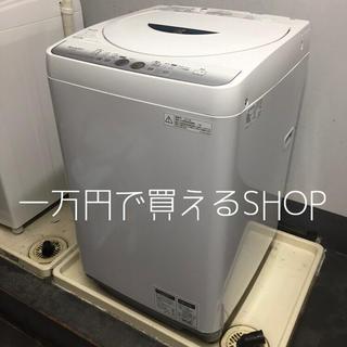 シャープ(SHARP)のSHARP☆ベランダ置き1人暮らしサイズ洗濯機23区限定で、配送と設置が込み(洗濯機)