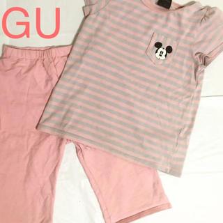 ジーユー(GU)のGU ミッキー半袖パジャマ(パジャマ)