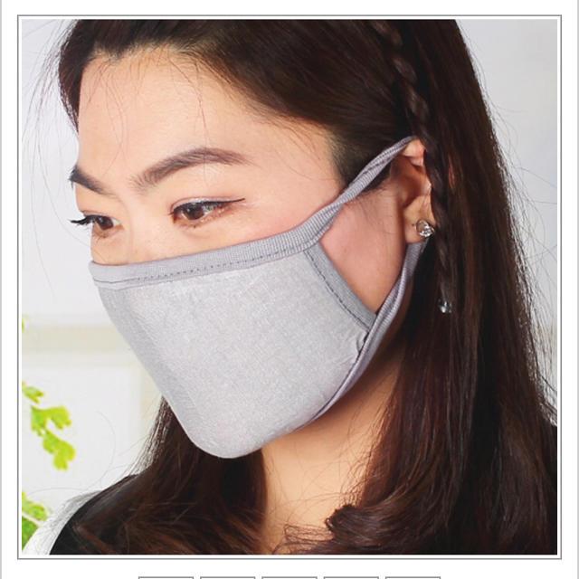 3枚●グレー 布マスク 男女兼用の通販