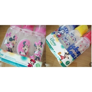 ディズニー(Disney)のプラスチック哺乳瓶★ミッキー&ミニー★計6本(哺乳ビン)