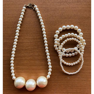 ジーユー(GU)のネックレスとブレスレットのセット(ネックレス)