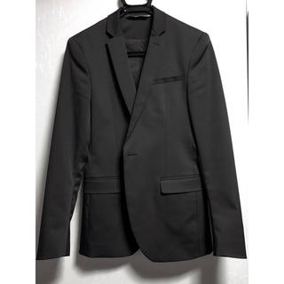 ザラ(ZARA)のZARA MAN スーツ テーラードジャケット 黒(テーラードジャケット)