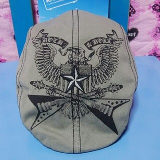 ニューエラー(NEW ERA)の🎶ロックスター🌠ハンチング🗽.USA.(ハンチング/ベレー帽)