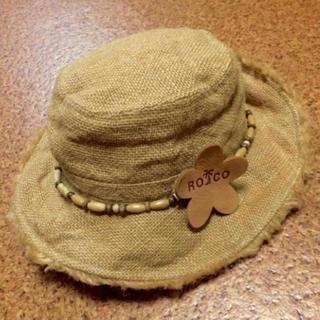 ジャングルロコ(JUNGLE ROCO)のJUNGLE ROCO★ロココ調麻帽子★52cm(帽子)