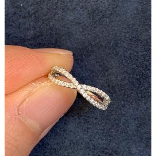18kホワイトゴールド モアサナイト ピンキーリング 2号(リング(指輪))
