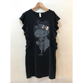 アチャチュムムチャチャ(AHCAHCUM.muchacha)のあちゃちゅむ  ハローキティ ノースリーブ Tシャツ(Tシャツ(半袖/袖なし))