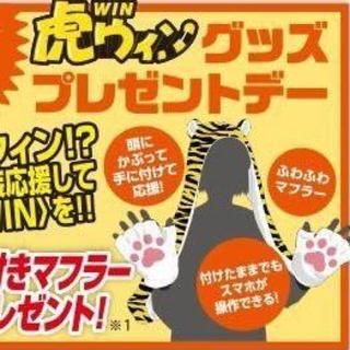 ハンシンタイガース(阪神タイガース)の阪神タイガース 虎の手袋付き マフラー(応援グッズ)
