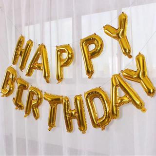 【誕生日用】飾り付け✨バルーン ゴールド 風船(ウェルカムボード)