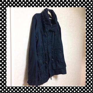 GU - [USED] GU軽量コート 紺色 レディースL ジーユー