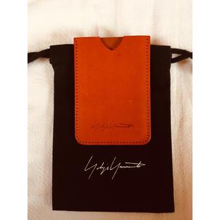 ヨウジヤマモト(Yohji Yamamoto)のYohji Yamamoto Pour Hommeヨウジヤマモトの本革名刺入れ(名刺入れ/定期入れ)