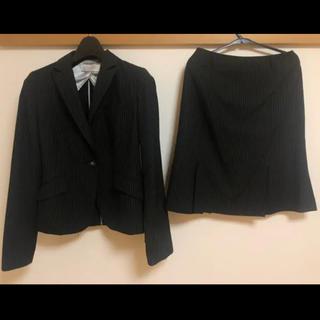 シマムラ(しまむら)のスーツ セットアップ グレー ストライプ フォーマル 社会人(スーツ)