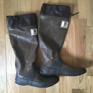 野鳥の会 バードウォッチング用レインブーツ ブラウン L (26cm)(レインブーツ/長靴)