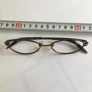カルバンクライン(Calvin Klein)のカルバン・クライン メガネフレーム レンズ無し 茶系(サングラス/メガネ)
