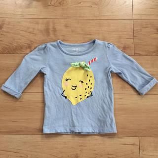 ギャップ(GAP)の中古品 7分袖 ロンT  GAP レモン 90(Tシャツ/カットソー)