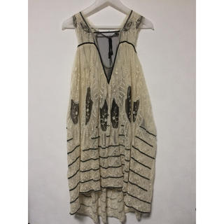 ザラ(ZARA)のZARA チュール刺繍ドレス(ミディアムドレス)