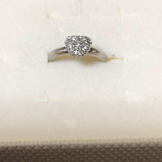 PT900 ダイヤモンド0.23カラット ピンキーリング 4号(リング(指輪))