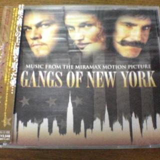 CD「ギャング・オブ・ニューヨーク」映画サントラ レオナルド・ディカプリオ キャ(テレビドラマサントラ)
