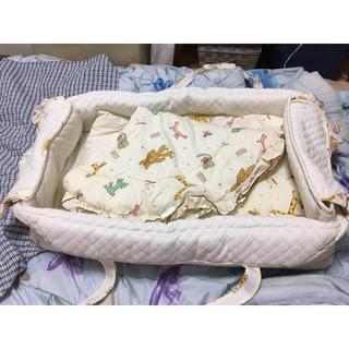 【ベビークーハン】持ち運びベッド 新生児(ベビーベッド)