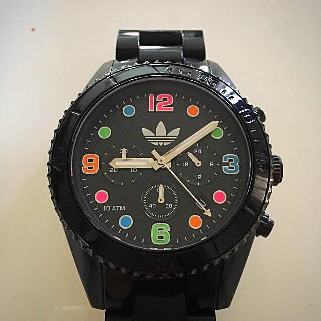adidas(アディダス)の腕時計 アディダス アナログ 〔 ブラック & カラフル 〕 メンズの時計(腕時計(アナログ))の商品写真