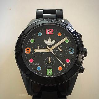 アディダス(adidas)の腕時計 アディダス アナログ 〔 ブラック & カラフル 〕(腕時計(アナログ))