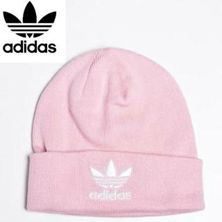adidas - アディダスオリジナルス ビーニー ニット帽 ピンク 新品