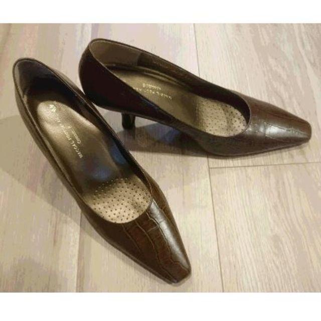 Wacoal(ワコール)のワコール(Wacoal Foot Wear)のハイヒール ブラウン 型押 EE レディースの靴/シューズ(ハイヒール/パンプス)の商品写真