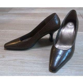 ワコール(Wacoal)のワコール(Wacoal Foot Wear)のハイヒール ブラウン 型押 EE(ハイヒール/パンプス)