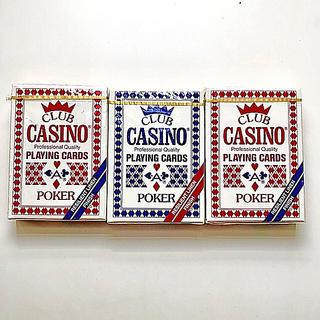 CLUB CASINO PLAYING CARDS レア物3箱◆新品未開封(トランプ/UNO)