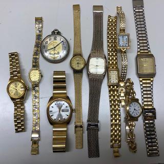 エルジン(ELGIN)のエルジン、ランセルなどゴールド系ジャンク時計10本(その他)