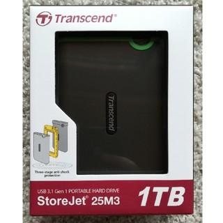 トランセンド(Transcend)の新品未開封 Transcend ポータブルHDD 1TB (PC周辺機器)