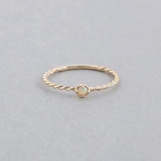 エテ(ete)のジュエッテ Jouete K10YG 5号 ブラックダイヤモンド ピンキーリング(リング(指輪))