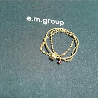 リトルエンブレム(little emblem)のe.m. リトルエンブレム 3連リング(リング(指輪))