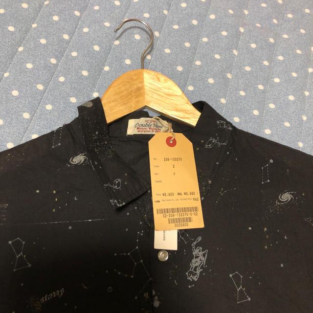 DOUBLE NAME(ダブルネーム)のDouble Name 柄シャツ ブラック レディースのトップス(シャツ/ブラウス(半袖/袖なし))の商品写真