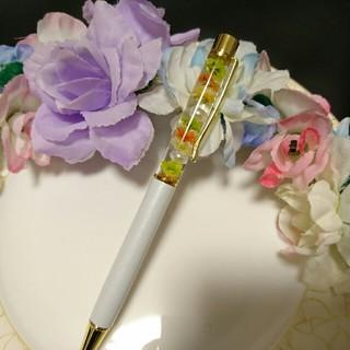 ハーバリウムボールペン★ドライフラワー プリザーブド 贈り物 プレゼントにも(ドライフラワー)