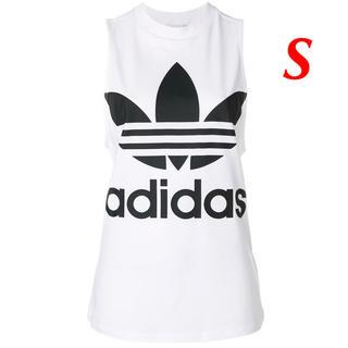 アディダス(adidas)の【レディースS】白  タンクトップ(タンクトップ)