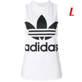 アディダス(adidas)の【レディースL】白   タンクトップ(タンクトップ)