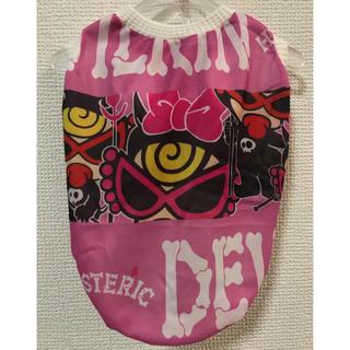 ヒステリックミニ(HYSTERIC MINI)の★ハンドメイド シャツ デビルキン柄 ピンク 犬服 L★(ペット服/アクセサリー)