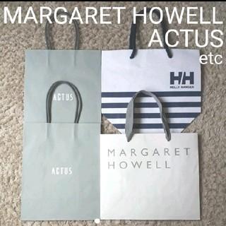 アクタス(ACTUS)のMARGARETHOWELL ヘリーハンセン ACTUS ショップ袋 4枚セット(ショップ袋)