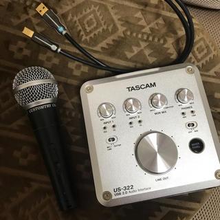 TASCAM US-322(オーディオインターフェイス)