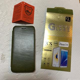トチギレザー(栃木レザー)の栃木レザー  iPhone8 iPhone7 手帳型カバー 革 日本製(iPhoneケース)