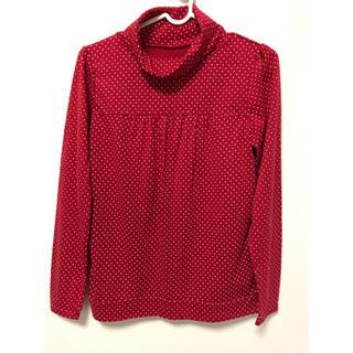 ニッセン(ニッセン)の薄手ドットタートルネックシャツ ☆ M(カットソー(長袖/七分))