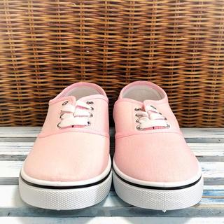 【新品未使用】スニーカー ミルキー パステル カラー ピンク ローカット 靴(スニーカー)