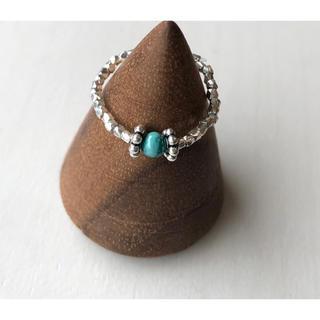 カレンシルバー と天然石のターコイズのピンキーリング(リング(指輪))