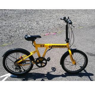 ハマー(HUMMER)のkazuo様専用 ハマー HUMMER 折りたたみ自転車 イエロー(自転車本体)