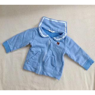 ミキハウス(mikihouse)のセーラー襟 パーカー 80 美品(シャツ/カットソー)