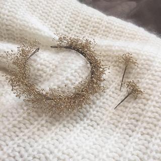 【限定1個】プリザーブドゴールドかすみ草のヘッドドレス+ヘッドパーツ2本付き(ヘッドドレス/ドレス)