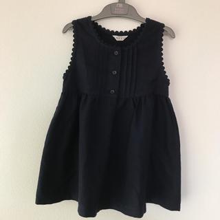 100cm SACCO サッコ フォーマルワンピース 濃紺 お受験(ドレス/フォーマル)