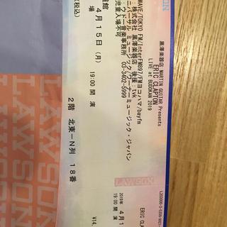 クラプトン チケット(海外アーティスト)
