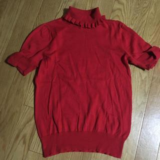 ジェーンマープル(JaneMarple)のジェーンマープル お袖リボン タートルニット(ニット/セーター)