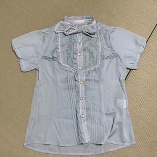 アクシーズファム(axes femme)のaxes femme 胸元フリルシャツ (シャツ/ブラウス(半袖/袖なし))